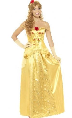 Golden Princess Belle plus size fancy dress costume